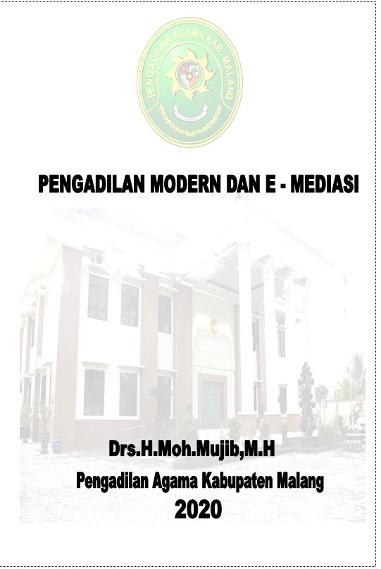 PENGADILAN MODERN DAN E-MEDIASI